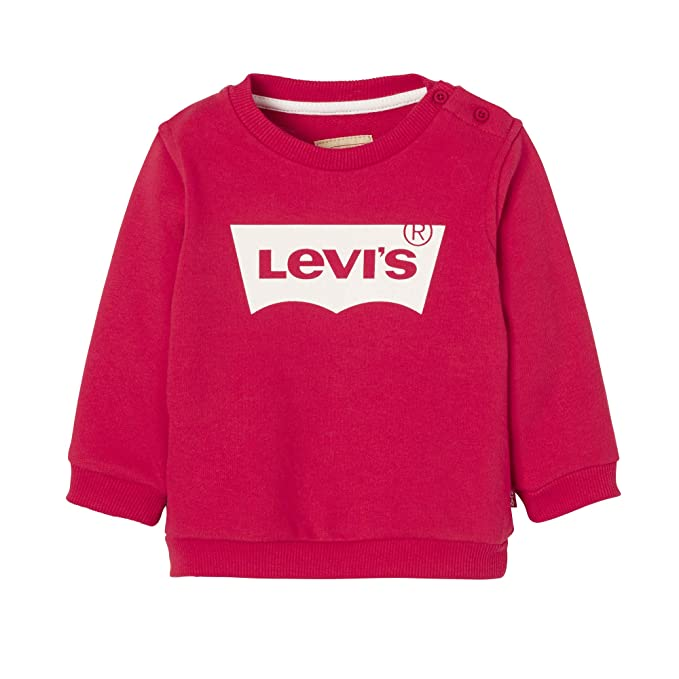 Levis kids Nn15004 37 Sweat Shirt, Sudadera Niños, Rojo (Dark Red 37)