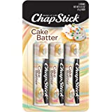 ChapStick Cake Batter Limited Edition Flavored Lip Balm Tubes, Lip Moisturizer for Lip Care - 0.15 Oz (Pack of 3)
