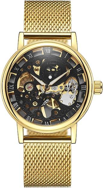 Sewor, orologio da polso da uomo, meccanico a carica