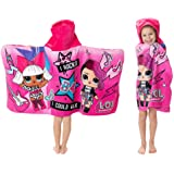 "L.O.L. Surprise! Soft Cotton Hooded Bath Towel Wrap 24"" x 50"" Pink"