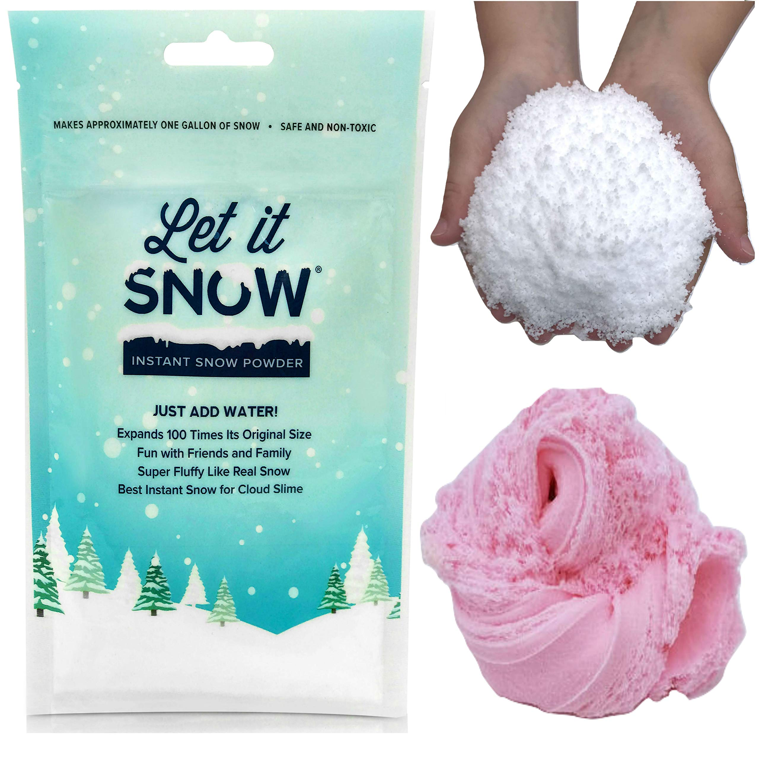 Let it Snow Instant Snow Powder (4 Gallons) and Elmer's Glue (1 Gallon) - Mix Makes Magical Fluffy White Artificial Snow - Perfect for Cloud Slime! Frozen Theme Birthday Parties and Snow Decorations! by Let it Snow (Image #2)