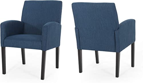 Fairy Contemporary Fabric Dining Chairs Set of 2