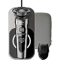Philips Elektrisch Scheerapparaat S9000 Prestige Nat en droog scheren - NanoTech precisiemesjes - Volgt gezichtcontouren…