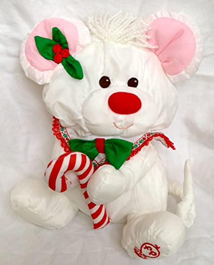 Amazon Com Fisher Price Puffalump 11 Plush White Christmas Mouse