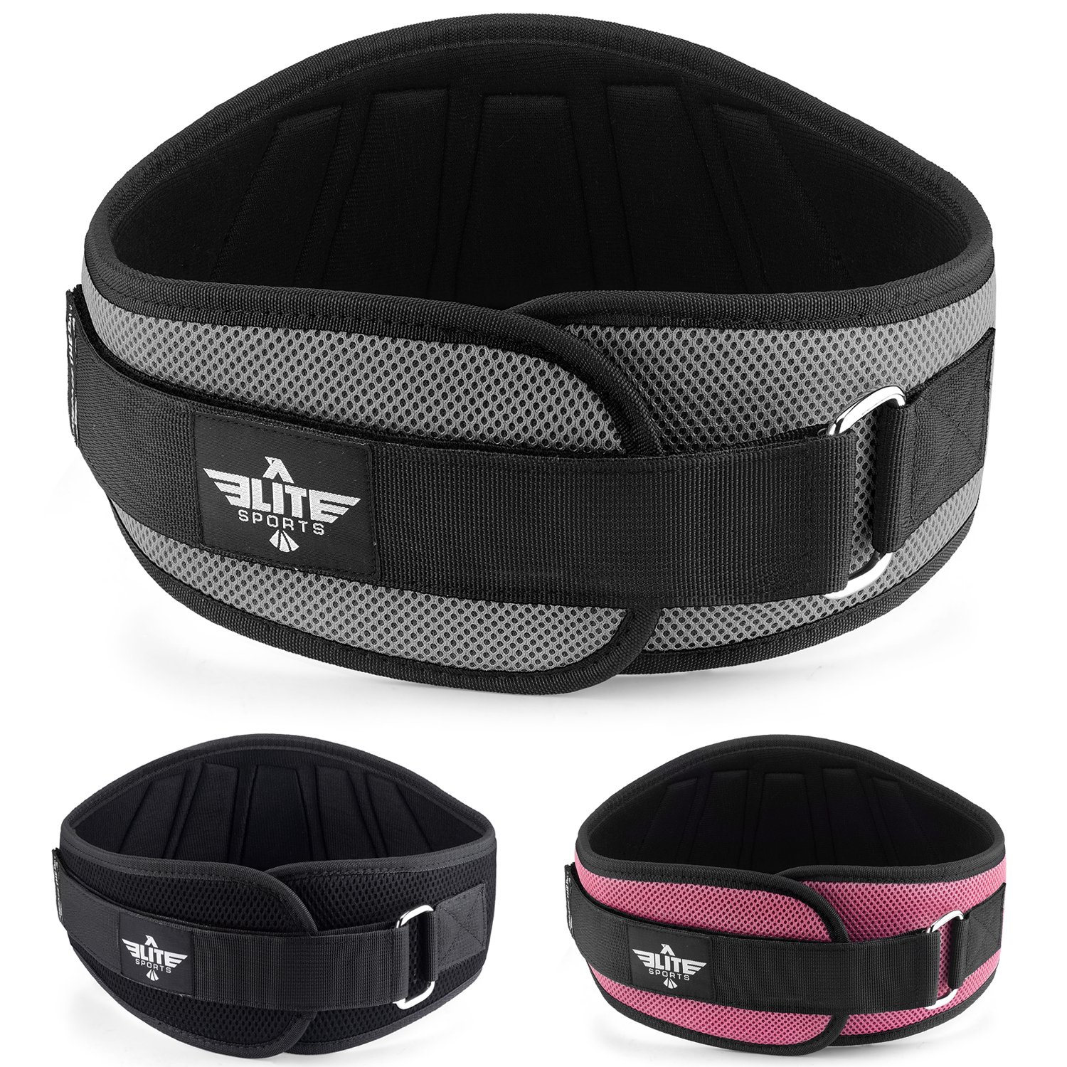 Elite Sports New Item Back Support for Men and Women, Olympic Lifting, and Weight Lifting Belt (Grey, X-Small)