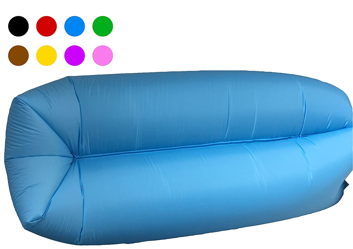 Amazon Com Inflatable Lounger Couch Camping Air Sofa Sleeping Bag
