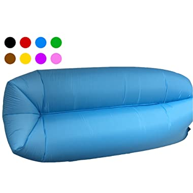 Inflatable Lounger Couch Camping Air Sofa Sleeping bag Waterproof Outdoor Bed Portable Compression Sacks With Carry bag Great furniture to use as bed hammock Chair Mattress Floats Water