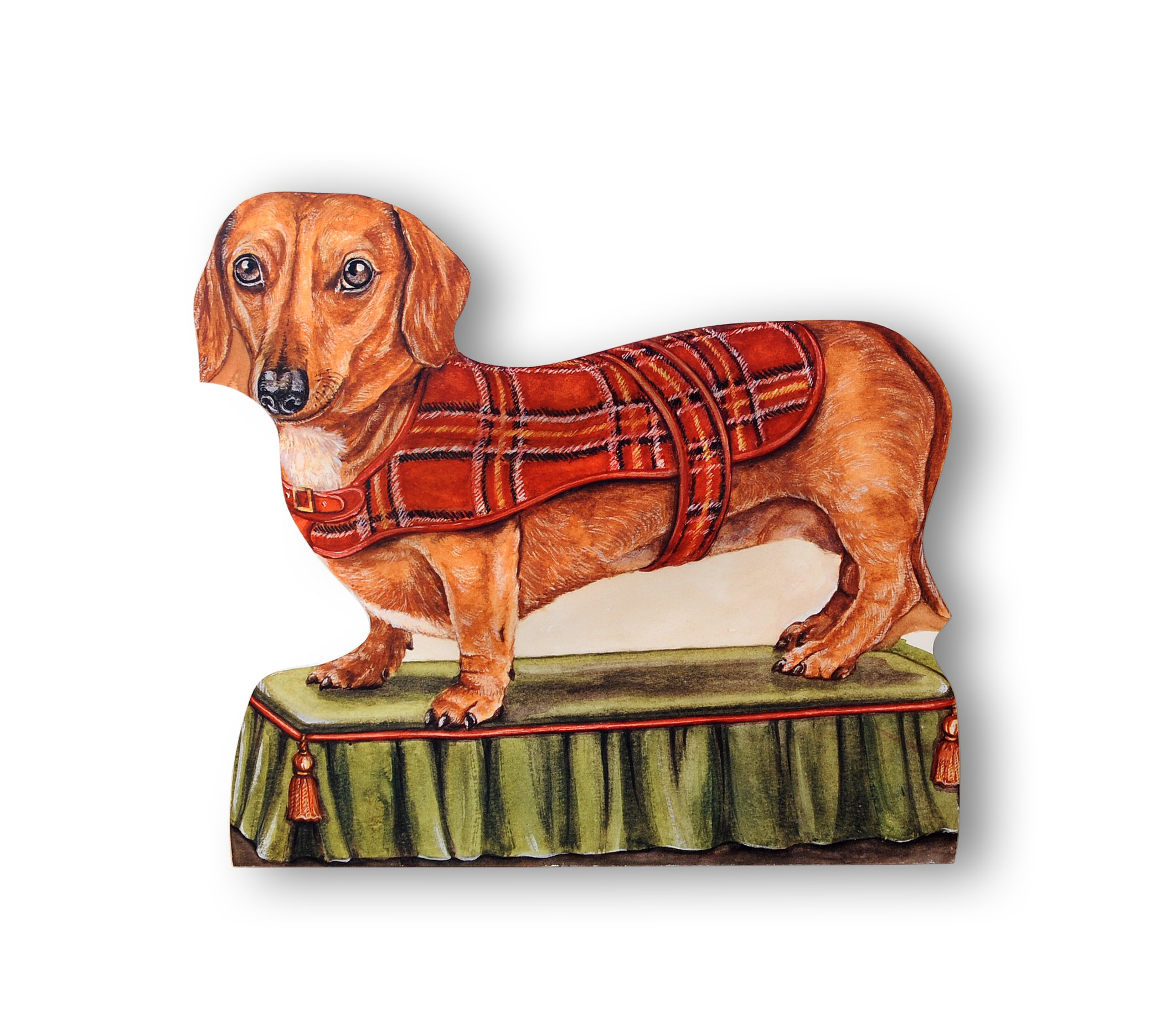 Stupell Home Décor Dachshund Decorative Dog Door Stop, 13 x 0.5 x 15, Proudly Made in USA