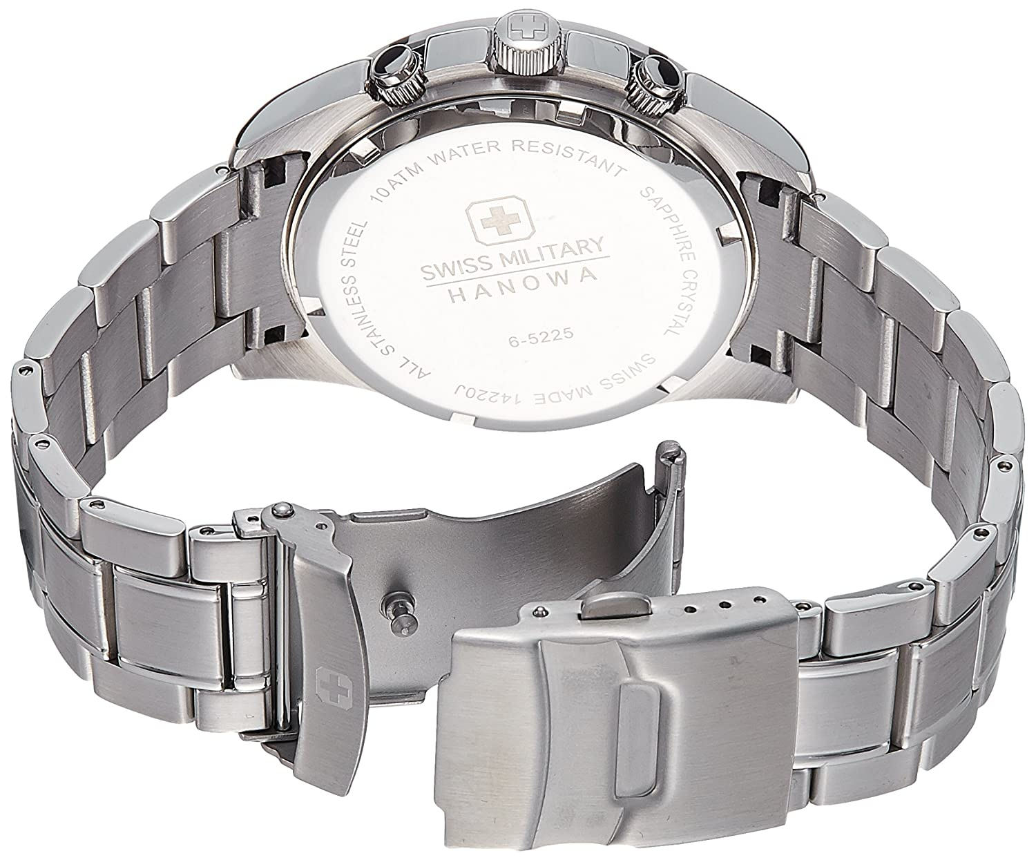 Amazon.com: Swiss Military 6-5225-04-001 Mens Crusador Silver Chronograph Watch: Watches