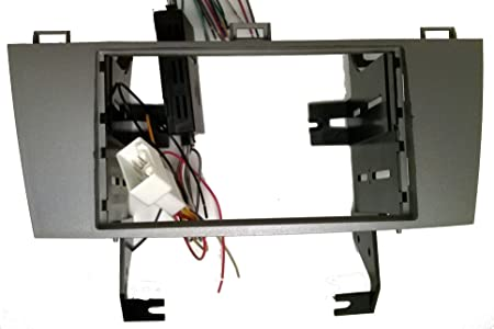 Carxtc Double Din Silver Colored Radio Installation Package Fits Toyota Solara 2004-2008 Includes The Wiring, Trim kit and maintains The Factory amp When Replacing Standard Fits JBL Factory System