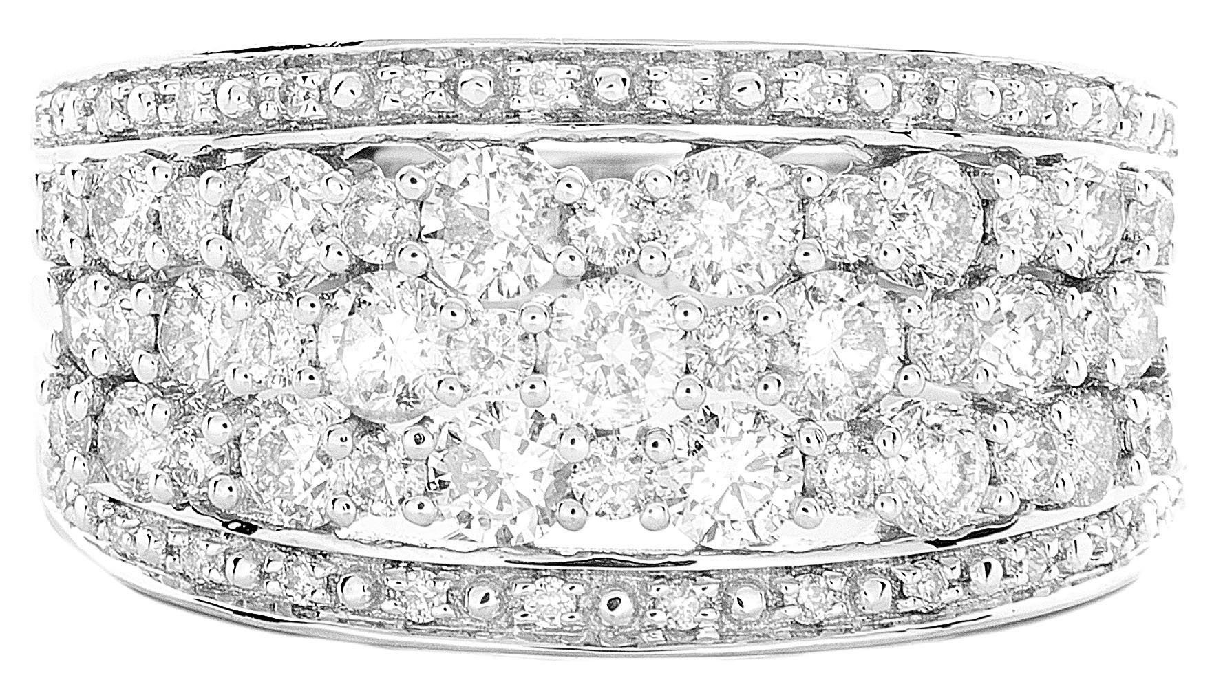1.50ctw Excellent Cut Round Diamond (H-1 color, i1 - i2 clarity) in 14k Gold Fashion Ring