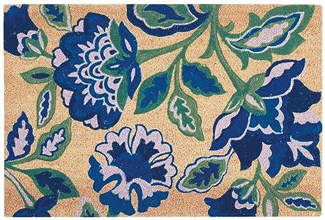 Amazon.com: Waverly WGT23 Greetings Floral/Botanical Katia Work Navy ...