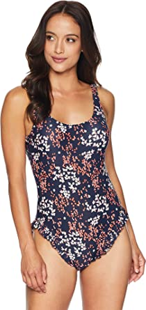 afb27156ad51 MICHAEL Michael Kors Women s Scattered Blooms One-Piece Swimsuit w High Leg  Ruffles