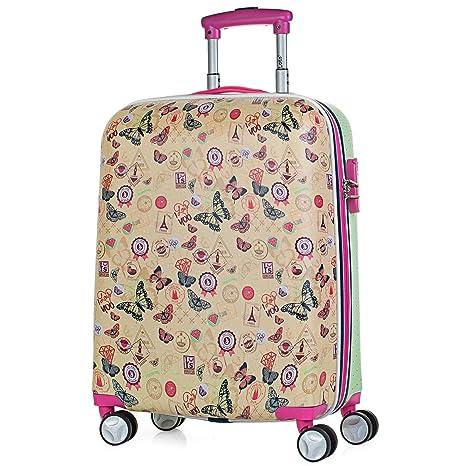 Lois - Maleta Cabina Rígida 4 Ruedas 50x40x20 cm Trolley ABS Estampado. Equipaje de Mano