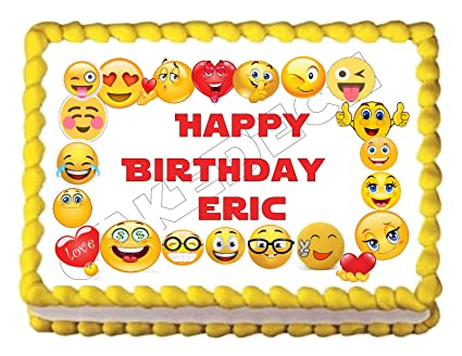 Amazon EMOJI Border Edible Party Cake Topper Decoration