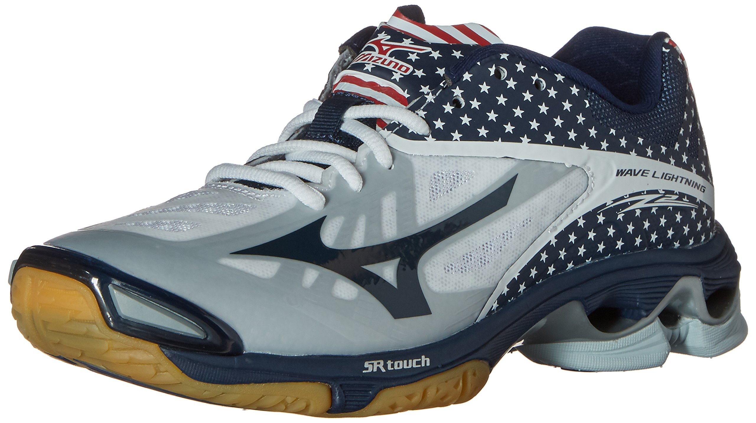 Mizuno Women's Wave Lighting Z2 Volleyball Shoe, Stars/Stripes, 10 D US