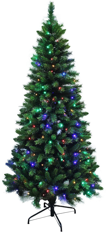 75 ft pre lit christmas tree review holiday stuff pre lit dual color led lights slim shape artificial pine christmas tree 7ft - Pre Lit Christmas Tree Reviews