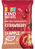 KIND Fruit Bites Fruit Snacks, Strawberry Cherry Apple, No Sugar Added, Non GMO, Gluten Free.6oz, 40 Count