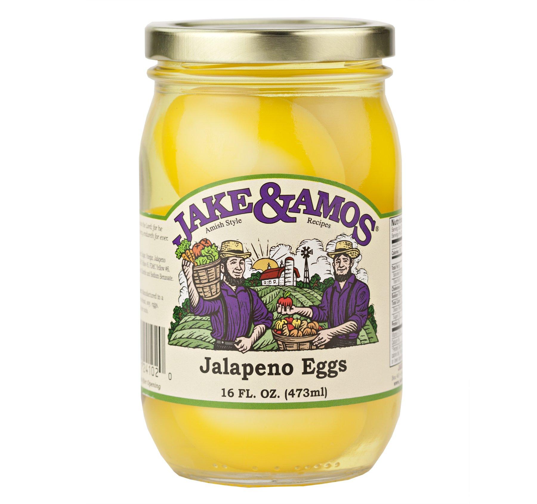 Jake & Amos Jalapeno Eggs 16 Oz. (3 Jars)