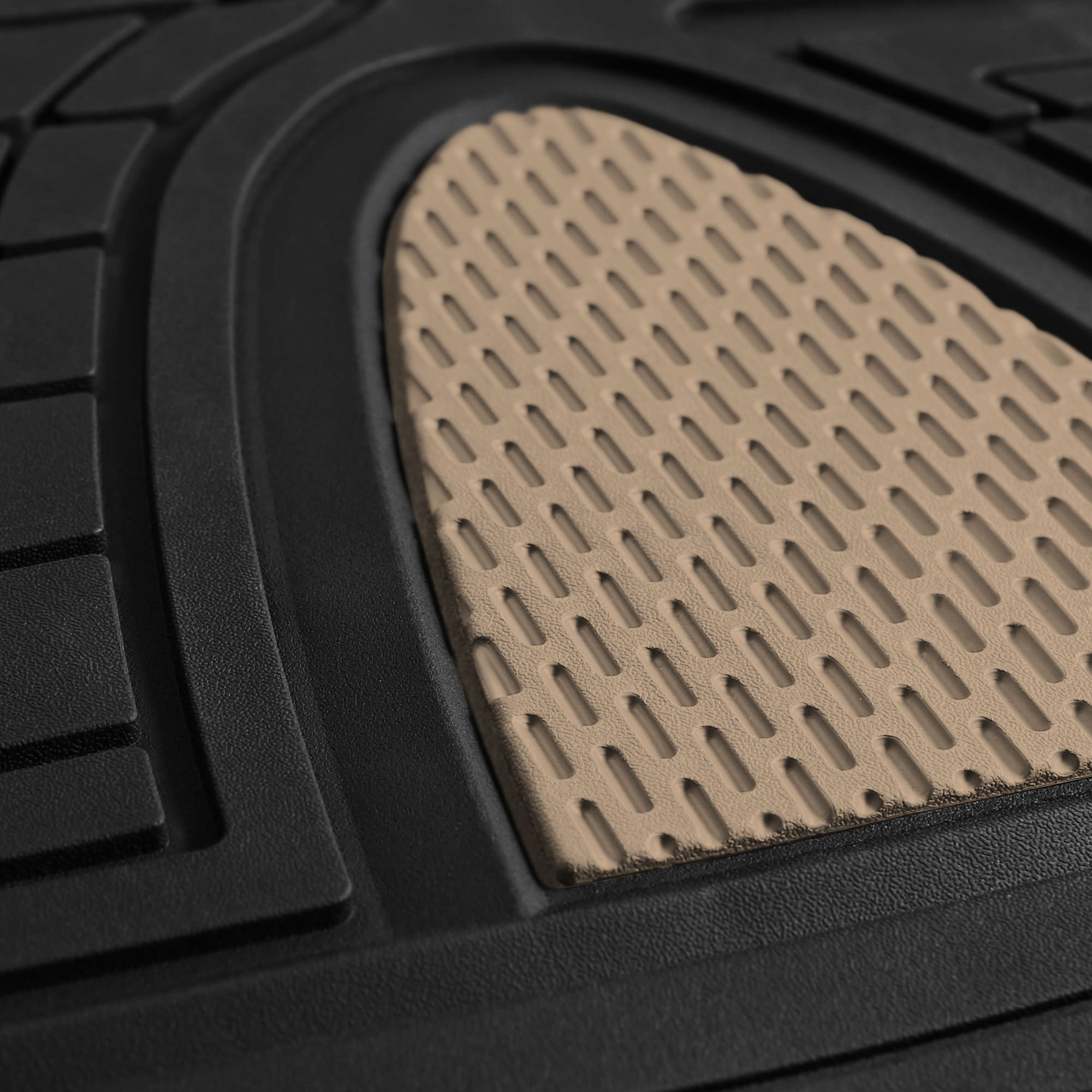 FH Group F11311BEIGE Rubber Floor Mat(Heavy Duty Tall