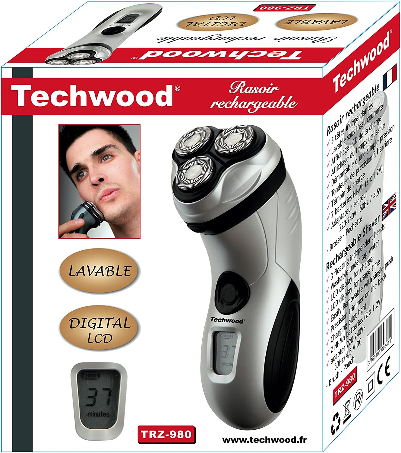Techwood TRZ-980 - Afeitadora recargable: Amazon.es: Salud y ...
