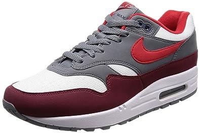 more photos 6ec3a 1eda2 Amazon.com   NIKE Men s AIR MAX 1 Shoe White University RED Grey   Shoes