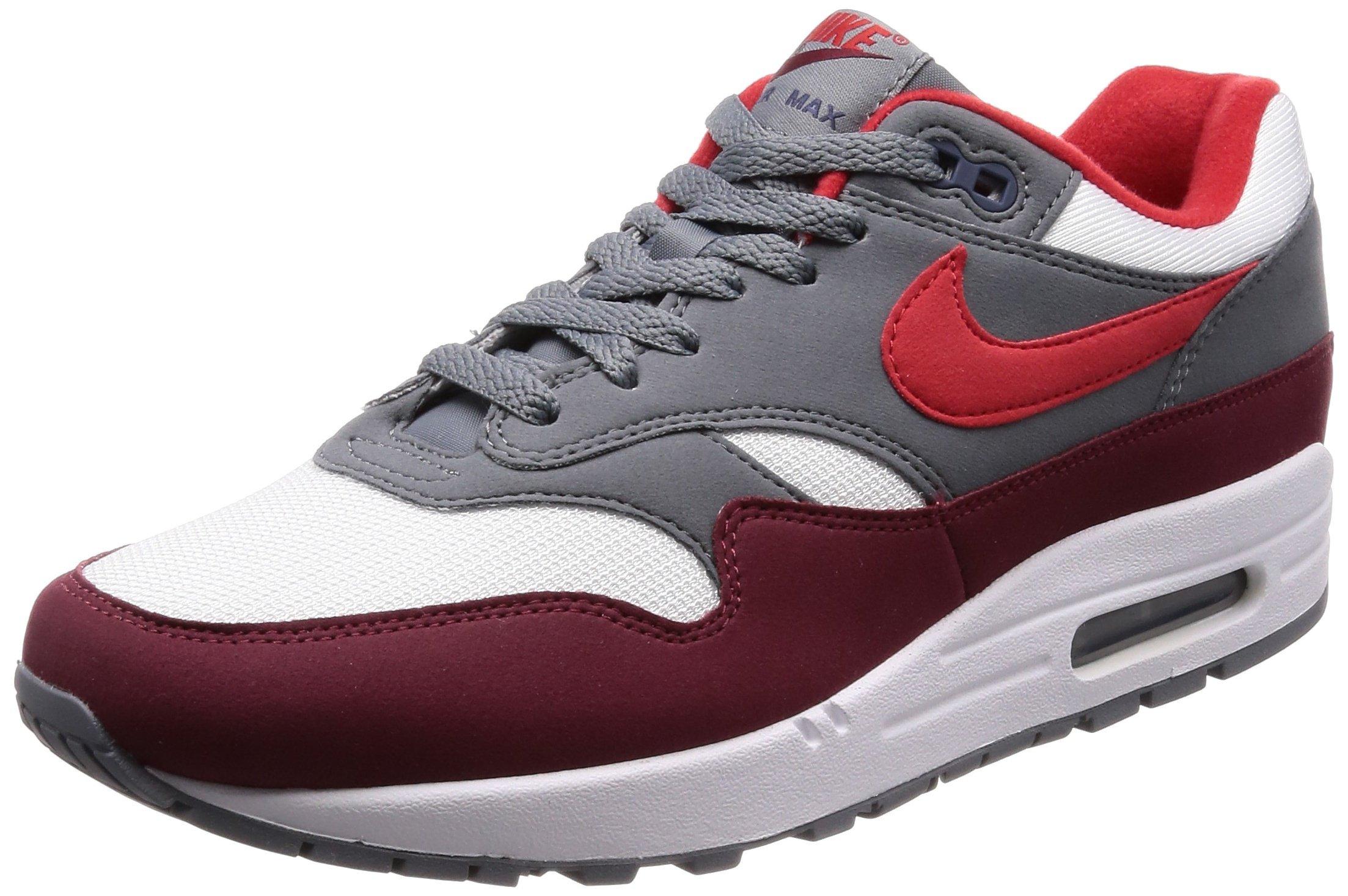 d945b23e512a2 NIKE Men's AIR MAX 1 Shoe White/University RED/Grey | Amazon