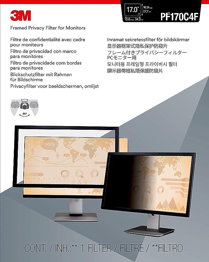3M PF317 Blickschutzfilter Standard für Desktops: Amazon.de ...