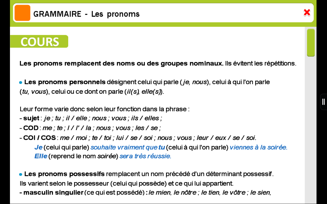 Amazon.com: ExoNathan Français 6e : des exercices de révision et dentraînement pour les élèves du collège: Appstore for Android