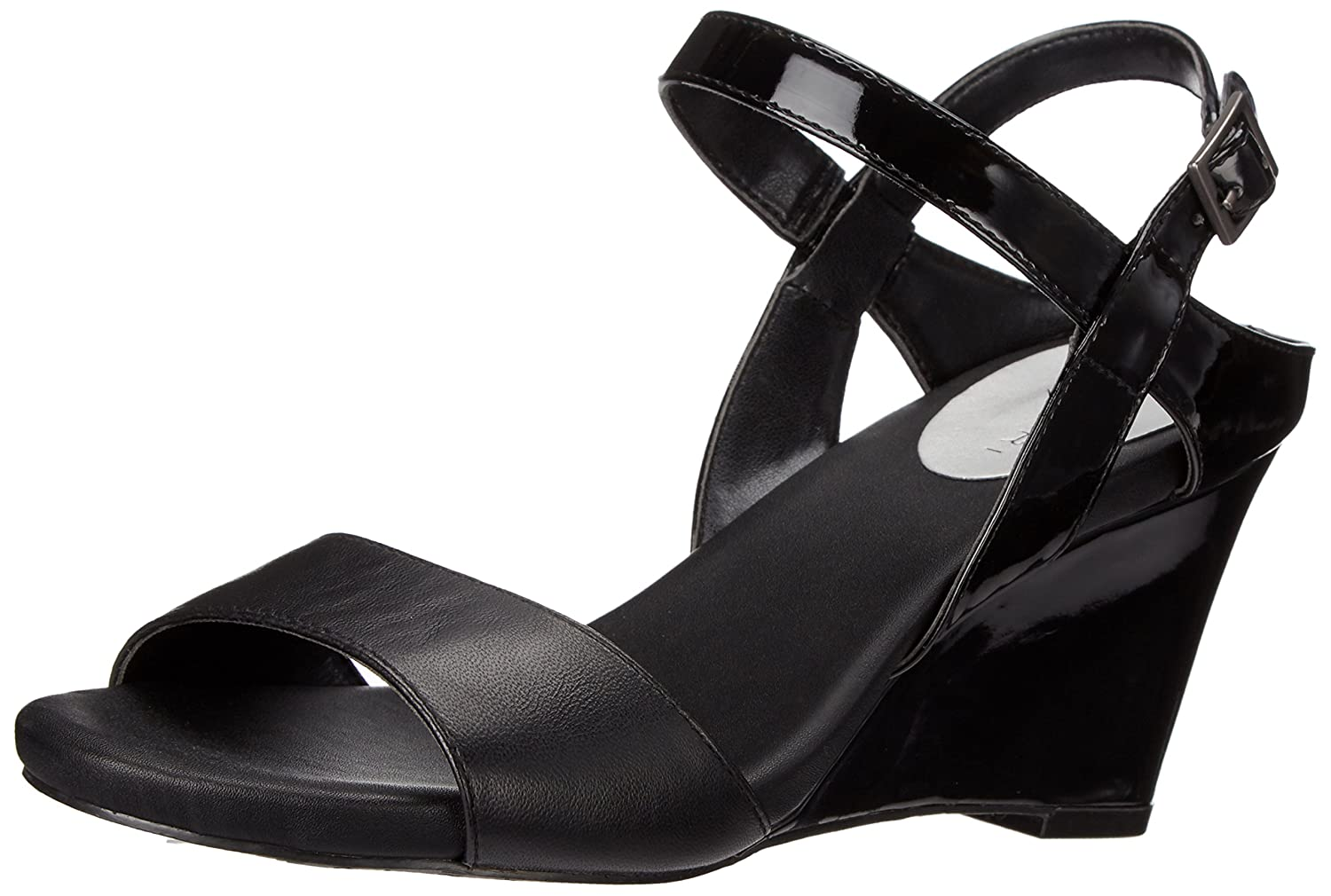 Tahari Women's TA-Fun Wedge Sandal B019DB1MU8 9.5 B(M) US|Black