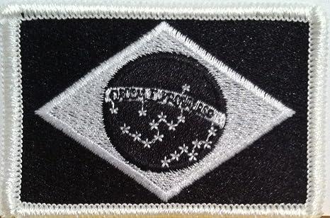 Brasil bandera bordado parche para planchar (Brazilian táctico militar escudo # 2454: Amazon.es: Juguetes y juegos