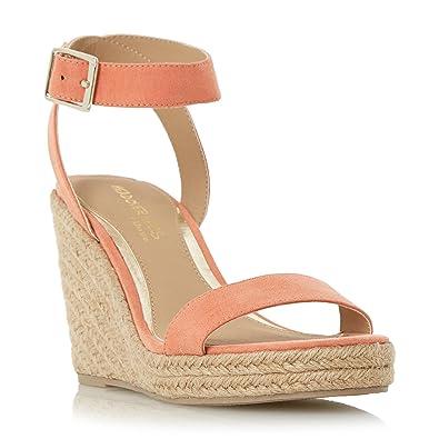 db73814c725f Dune Head Over Heels Women s Kallisto Two Part Espadrille Wedge Sandal  Coral Pink Size  4