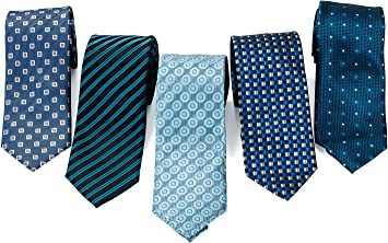 Amazon.com: Formal Ties for Men - 5 Men's Neckties And 2 Classy Tie Bars In  Gift Box - Gifts For Men By Pointed Designs