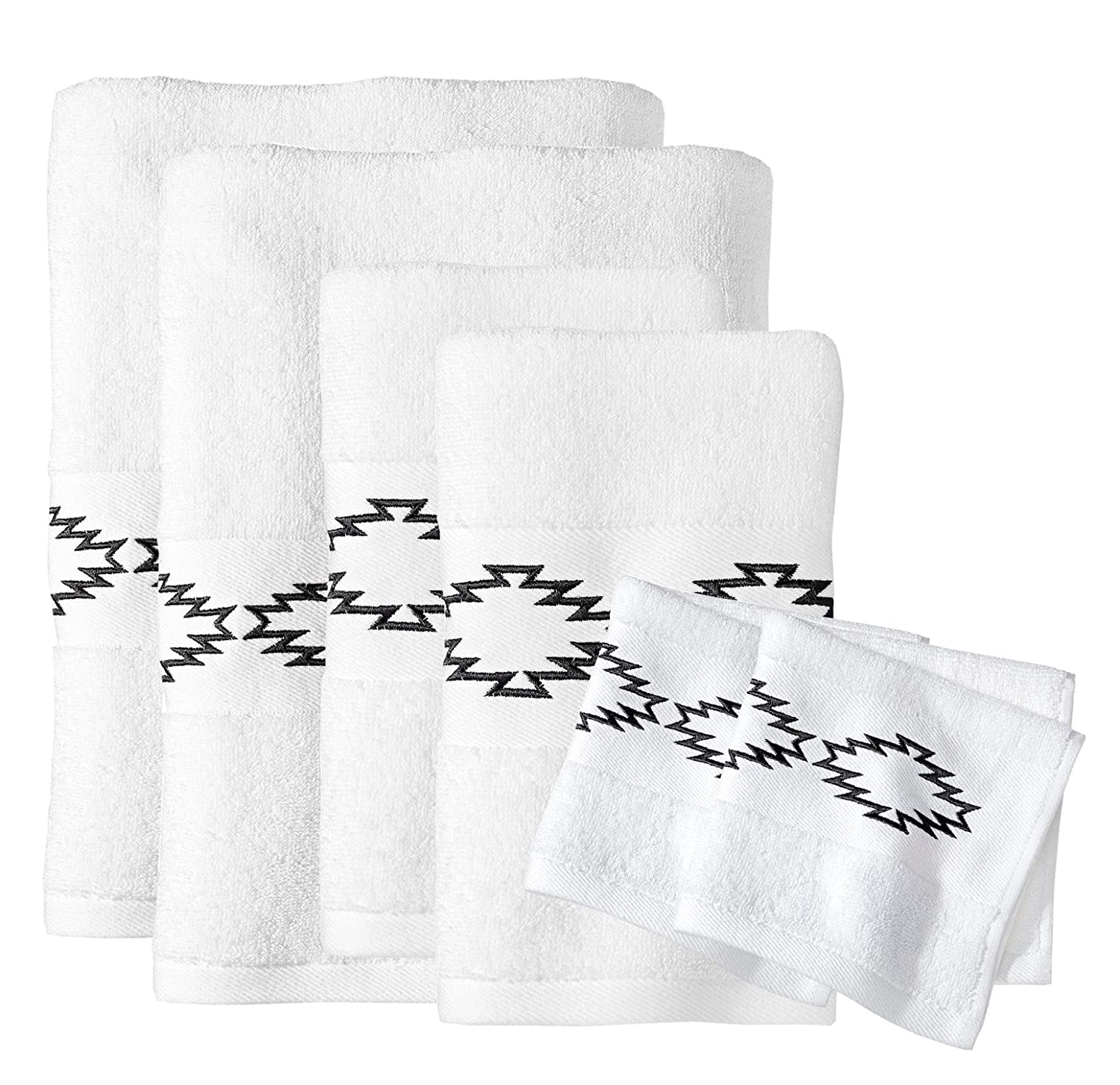 Sabrina Soto® Boutique Luxury 6 Piece Bath Towel,Hand Towel and Washcloth Set (Pink)