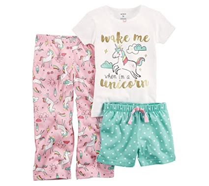 30f343666 Amazon.com  Carter s Baby Girls  3 Piece Unicorn Jersey Pjs 12 ...