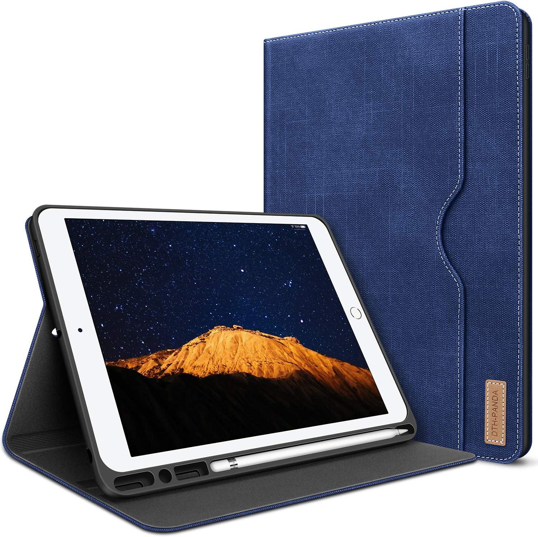iPad 10.2 case 2020 iPad 8th Generation Case 2019 iPad 7th Generation Case W Pencil Holder PU Leather Folio Stand Smart Cover with Pocket Auto Sleep/Wake