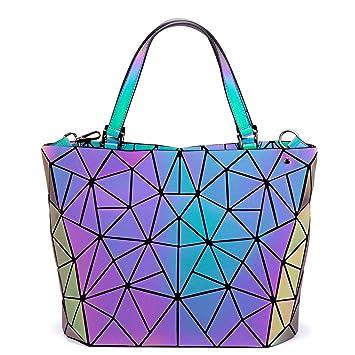 7ce89661623ff LOVEVOOK Handtasche Damen Geometrische Tasche Schultertaschen Umhängetaschen  Einzigartige Geldbörsen und Handtaschen Dreiteiliger