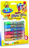 Carioca 42112 - Glitter Glue Blister Confezione, 10.5 ml, 6 Multicolori, Colla Colorata per Decorazioni