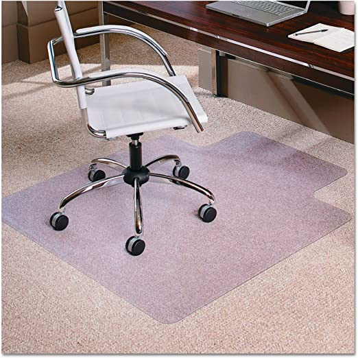 Standard Carpets Desk Chairs 1//8 inch FEZIBO Office Floor Mats for Pile Low Chair Mat for Carpet Floors with Lip 48 x 36 3MM