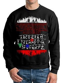 Amazoncom Stranger Things Mens Ugly Holiday Led Light Up Sweater