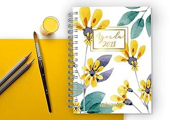 Agenda Takenote Flores 2018: Amazon.es: Oficina y papelería