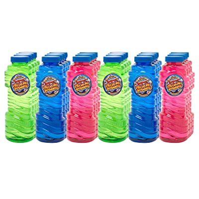 Super Miracle Bubble Solution, Party Pack of 24 Bottles, 16 oz each: Toys & Games
