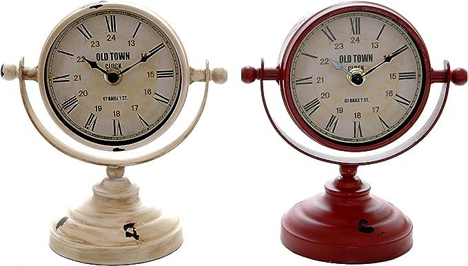 Reloj sobremesa vintage 18cm: Amazon.es: Hogar