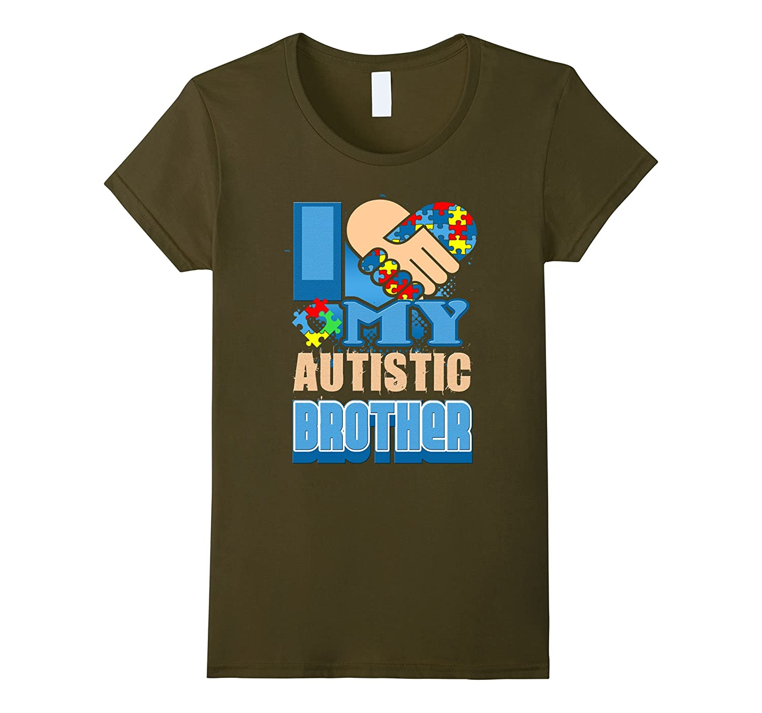 Autism Awareness T shirt – I Love My Autistic Brother Shirts