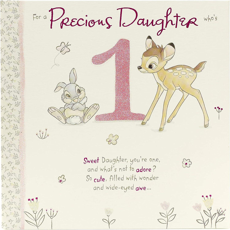 Daughter 5st Birthday Card - Birthday Card Age 5 Girl -Disney Birthday Card  - Adorable Bambi Design