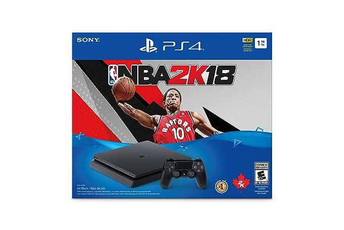 5fcbf1cfb5614 Playstation 4 Slim 1TB + NBA 2K18  Amazon.com.mx  Videojuegos