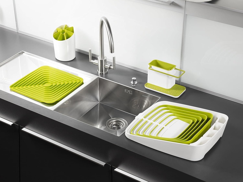 Amazon.com: Joseph Joseph 85021 Sink Caddy Kitchen Sink Organizer Sponge  Holder Dishwasher Safe, Regular, Green: Kitchen U0026 Dining