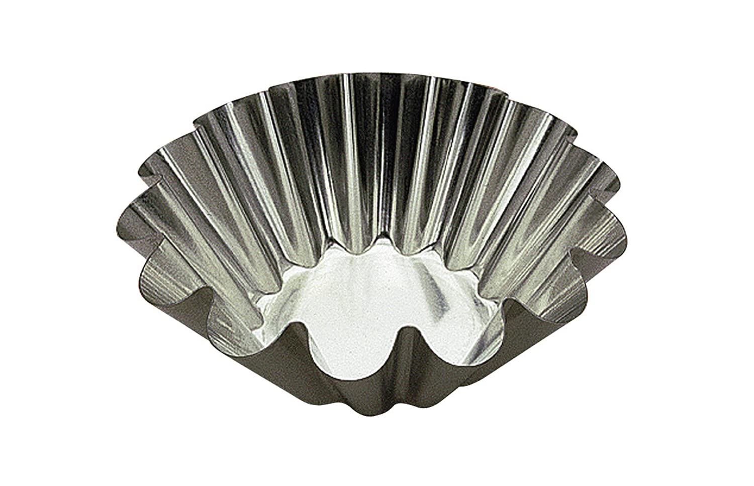 Browne Foodservice (80193740) 3.1-Inch Fluted Brioche Mould, Silver Browne-Halco 80 193740