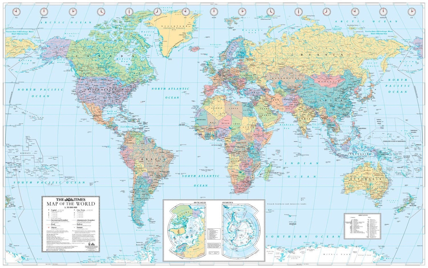 The Times Map Of The World World Map Amazon Co Uk Times Atlases