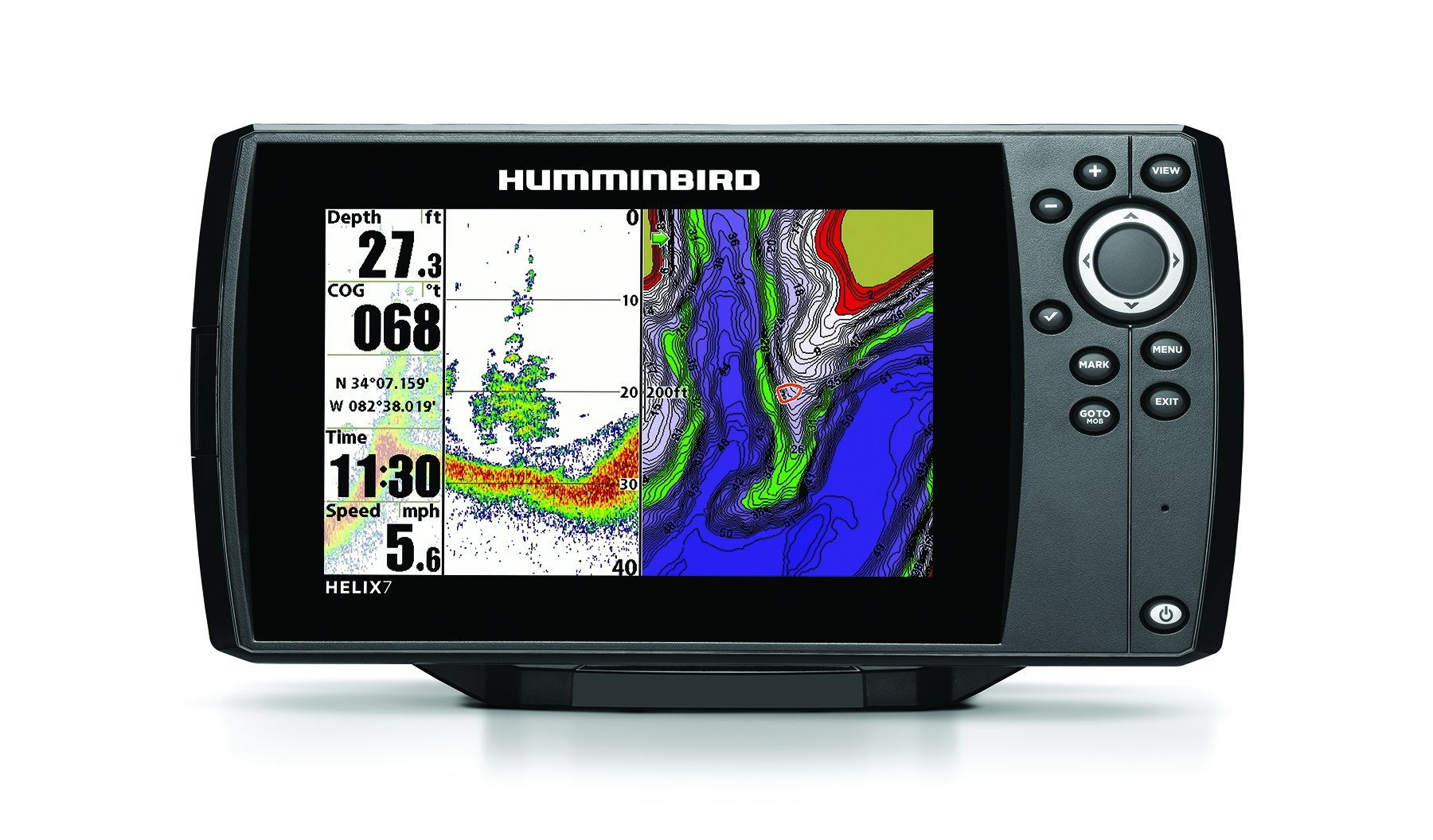 Humminbird 409820-1 Helix 7 Fishfinder/GPS with Dual Beam Plus Sonar by Humminbird